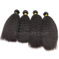 4 bundles indian remy kinky straight machine wefts