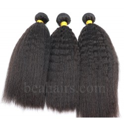 3 bundles indian remy Italian yaki /kinky straight machine wefts