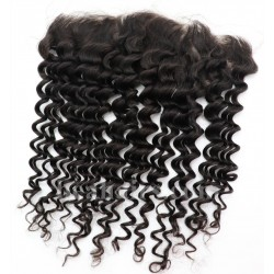 Brazlian virgin deep wave lace frontal