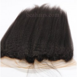 Brazlian virgin kinky straight lace frontal--best for African and American