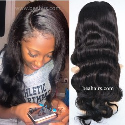 Pre plucked Brazilian virgin body wave 360 frontal lace full wig-[HT987]