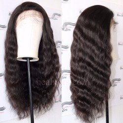 Brazilian virgin natural wave 150% density glueless full lace silk top wig-[BH566]