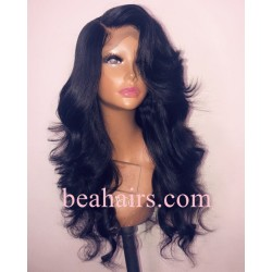 Only Today--Pre plucked Brazilian virgin human hair Classic Loose wave 360 frontal lace full wig--[CLW001]