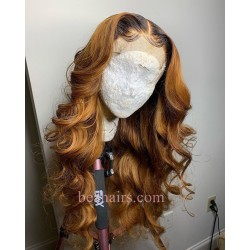 On Sale--Pre-plucked Brazilian virgin Loose Wave human hair 360 frontal lace full wig---[WW757]