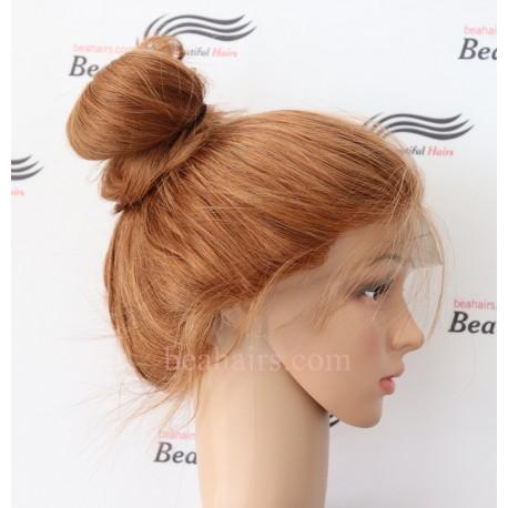 Brazilian virgin silky straight blonde glueless full lace silk top wig--BH666