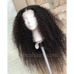 150% Density 6 inch parting Lace Front Brazilian Virgin deep curly --NLW676