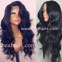 Pre plucked Brazilian virgin human hair Classic Loose wave 360 frontal lace full wig--[CLW001]