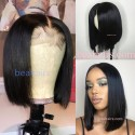 Halloween sale--2*4 lace closure blunt cut bob-Brazilian human hair -- [BEA001]