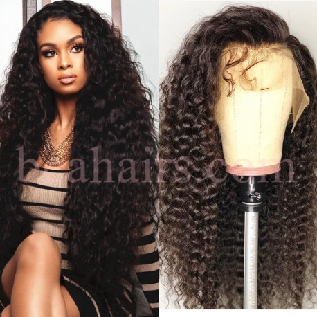 Brazilian virgin wet wave 360 frontal wig with weaves sewn in-[HT999]