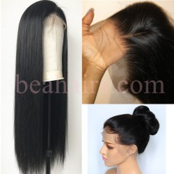 b06946715f Pre-plucked Brazilian virgin silky straight human hair 360 frontal lace  full wig---[HT888]