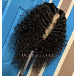 pre plucked Brazilian virgin free parting natural wave 360 frontal lace full wig-[HT333]