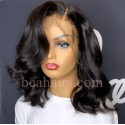 Pre plucked Brazilian virgin long wave bleached 360 frontal lace wig-[BH998]