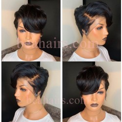 On sale--6 inch lace parting short pixie cut wig for summer--NLW456