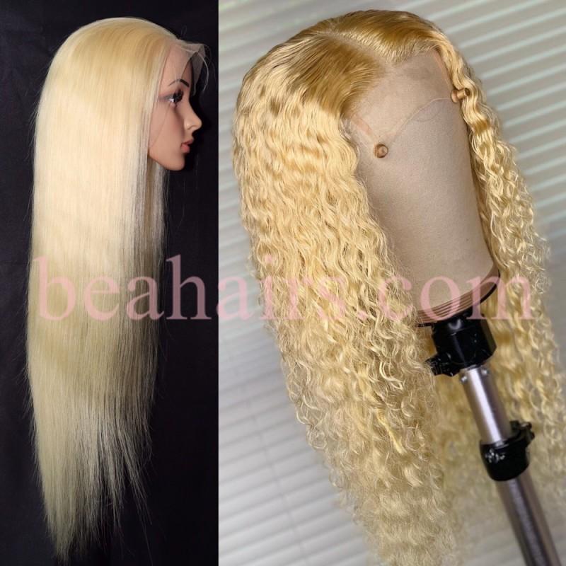 3dc9b38f2cd Brazilian virgin human hair 613 colored full lace wig --[SS009]