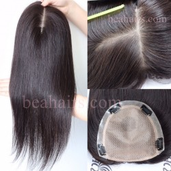 Stock SILK TOP PU around hair Topper