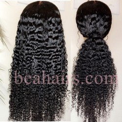 Pre-plucked Brazilian virgin human hair Water Wave 360 frontal lace wig-[HT678]