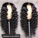 Pre plucked Brazilian virgin Beach Wave 360 frontal lace full wig-[HY262]