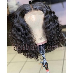 "Pre plucked Brazilian virgin pineapple wave 6"" lace front bob-[BW001]"