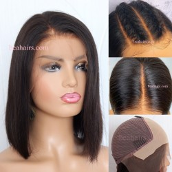 Pre-made pre-plucked fake scalp daily bob--[FB001]