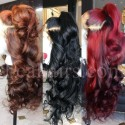 On sale--pre plucked Brazilian virgin colored loose wave 360 frontal lace full wig-[BB567]