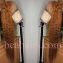 Pre-plucked Brazilian virgin orange water wave 360 frontal lace full wig---[BB569]