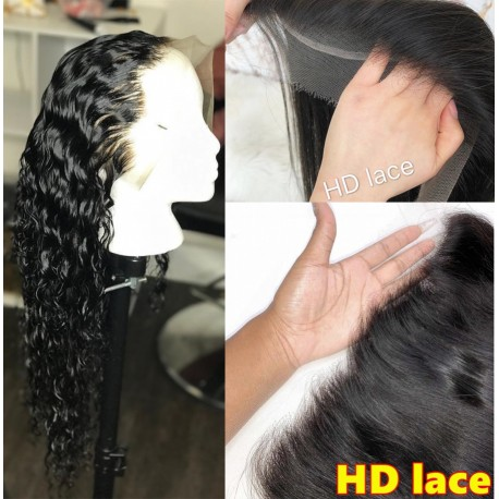 10A top quality wet wave HD lace wig--BH235