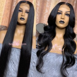 100% brazilian virgin human hair HD full lace wig--BH333