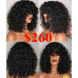 Ready to wear Bang curly 360 frontal wig - BC233