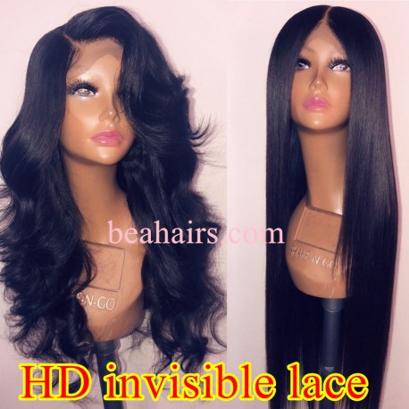 10A top quality silk straight HD lace wig--BH234