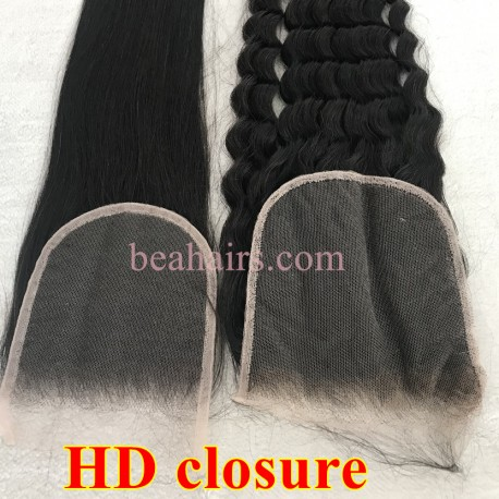 Wholesale HD Lace closure Undetectable Knots invisible