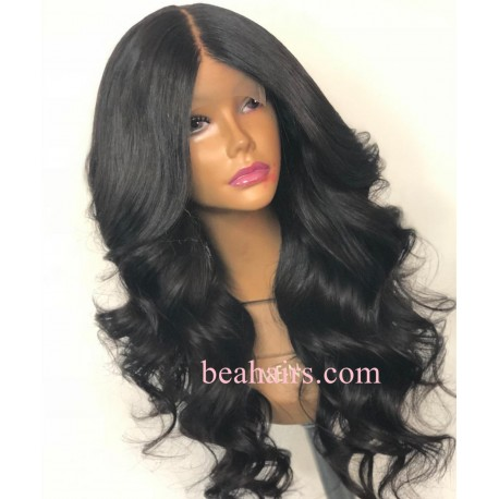 Loose Wave 370 Lace Wig Real Hair Wigs Deep Part Lace Frontal Wig--HT378