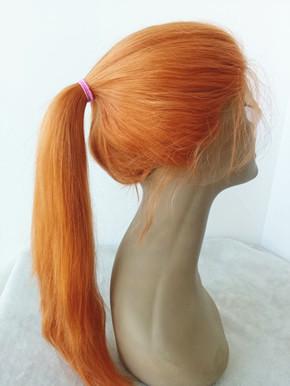 Brazilian Virgin Orange Straight Lace Front Wig La006